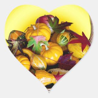 Cesta de abundancia calcomania corazon personalizadas