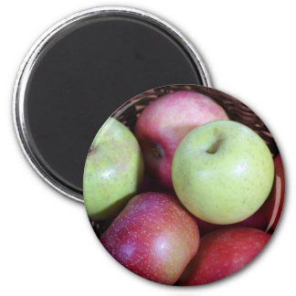 Cesta de Apple Imán Redondo 5 Cm