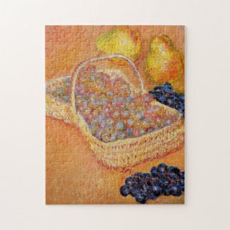 Cesta de bella arte de Monet de los membrillos y Rompecabeza