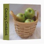 Cesta de carpeta verde de las manzanas