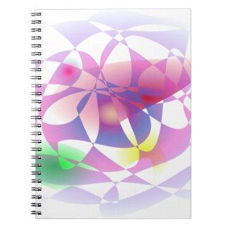 Cesta de encargo del color de fondo libretas espirales