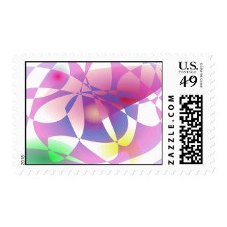 Cesta de encargo del color de fondo timbre postal