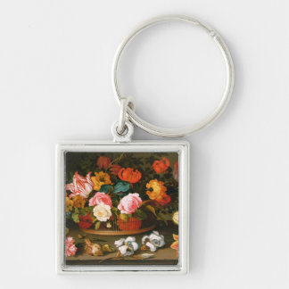 Cesta de flores, 1625 llavero personalizado