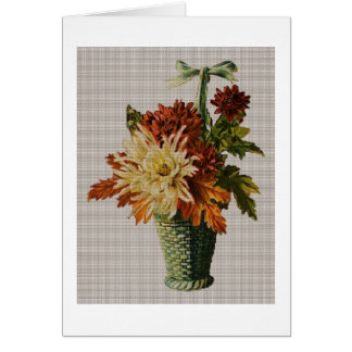 Cesta de flores tarjeta pequeña