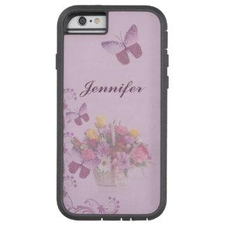 Cesta de flores y de mariposas, nombre funda de iPhone 6 tough xtreme