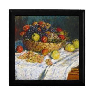 Cesta de fruta con las manzanas y las uvas Claude  Cajas De Regalo