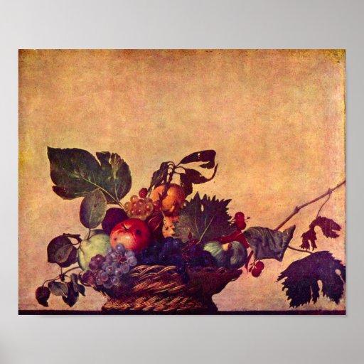 Cesta de fruta de Caravaggio-The Posters
