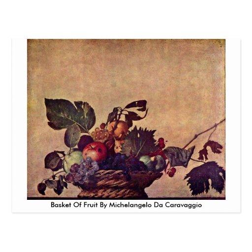 Cesta de fruta de Miguel Ángel DA Caravaggio Postal