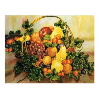 Cesta de fruta - mini impresiones del tarjetas postales