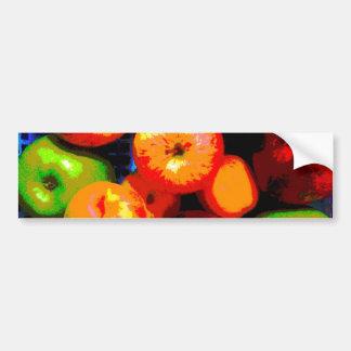 Cesta de fruta pegatina para auto