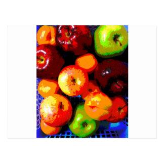 Cesta de fruta postales