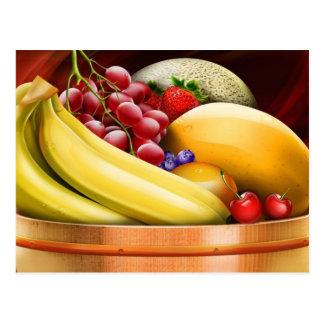 Cesta de fruta rendida Digitaces Postales