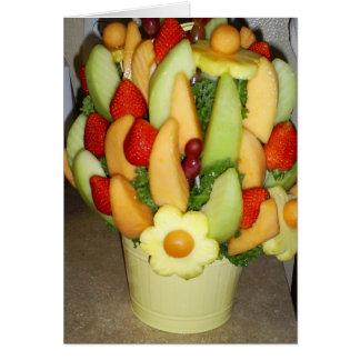 Cesta de fruta tarjeta de felicitación