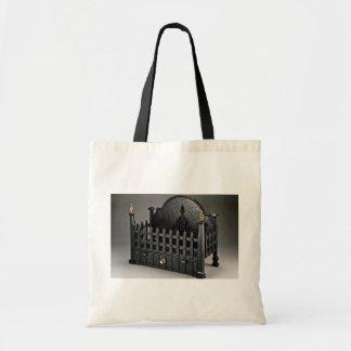 Cesta de fuego del arrabio diseño de los portcull bolsas lienzo