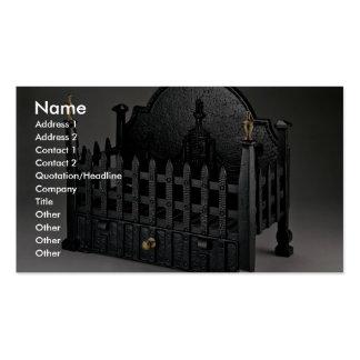 Cesta de fuego del arrabio diseño de los portcull plantilla de tarjeta de visita