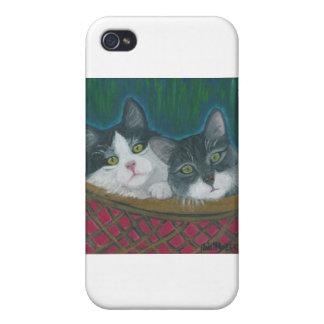 Cesta de gatitos iPhone 4/4S carcasas