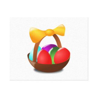 Cesta de huevos de Pascua Impresion En Lona