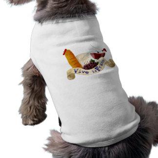 Cesta de invitaciones francesas playera sin mangas para perro