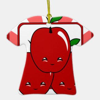 Cesta de Kawaii Apple (muchacho) Ornamentos Para Reyes Magos