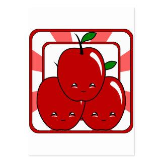 Cesta de Kawaii Apple (muchacho) Tarjeta De Visita