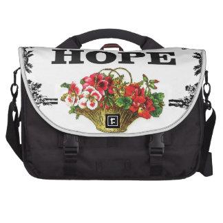 cesta de la flor de la esperanza bolsa de ordenador