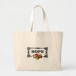 cesta de la flor de la esperanza bolsa de tela grande