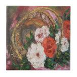 Cesta de la flor de la pintura de Ana Hayes de la  Tejas