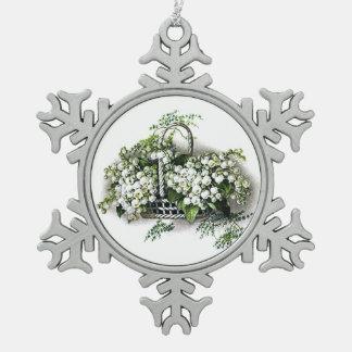 Cesta de la flor del lirio de los valles del vinta adornos