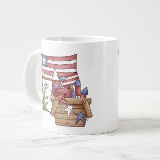 Cesta de la libertad taza grande