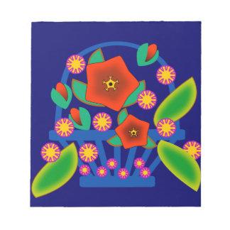 Cesta de las flores bloc de papel