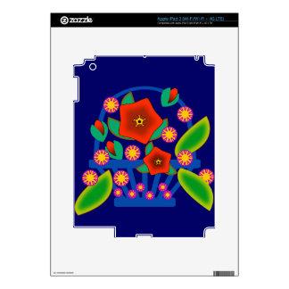 Cesta de las flores iPad 3 pegatinas skins