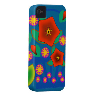 Cesta de las flores iPhone 4 Case-Mate cárcasas