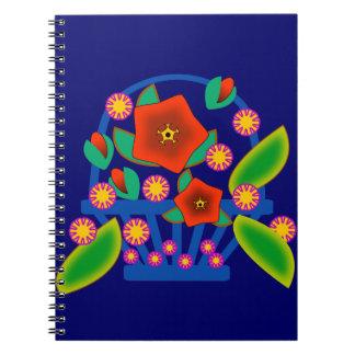 Cesta de las flores libretas espirales