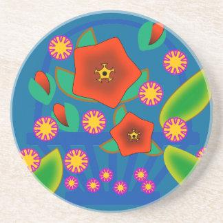 Cesta de las flores posavasos diseño