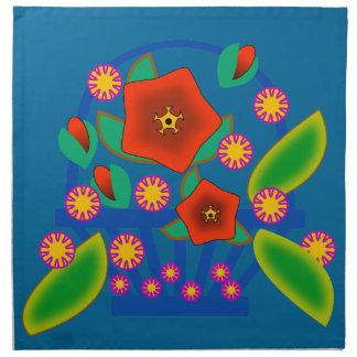Cesta de las flores servilletas de papel