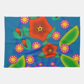 Cesta de las flores toalla de mano