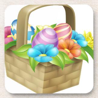 Cesta de los huevos de Pascua Posavasos De Bebida