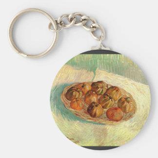 Cesta de manzanas a Lucien Pissarro de Van Gogh Llavero Redondo Tipo Pin