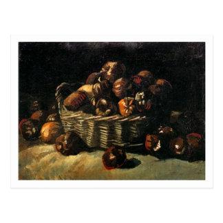 Cesta de manzanas, bella arte de Van Gogh Tarjeta Postal