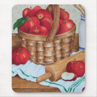 Cesta de manzanas - Mousepad