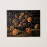 Cesta de manzanas, todavía del vintage arte de Van Puzzle