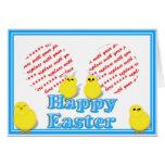 Cesta de Pascua con el marco de la foto de los pol Felicitacion