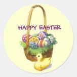 Cesta de Pascua con el pegatina del pato