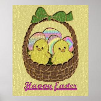 Cesta de Pascua de la Cuero-Mirada Poster