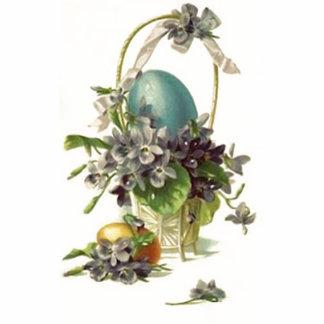Cesta de Pascua del vintage Escultura Fotográfica