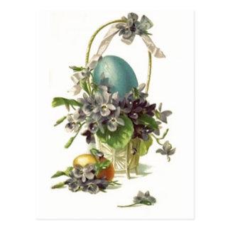 Cesta de Pascua del vintage Postales