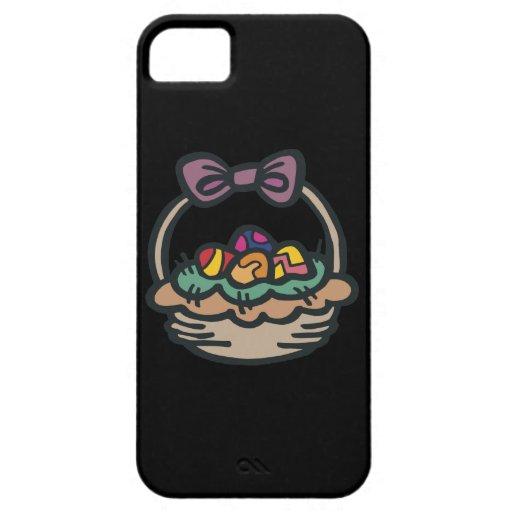 Cesta de Pascua iPhone 5 Case-Mate Carcasas