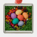 Cesta de Pascua - la primavera coloreada Eggs haba Ornamentos Para Reyes Magos