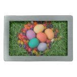 Cesta de Pascua - la primavera coloreada Eggs haba Hebillas De Cinturón