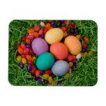 Cesta de Pascua - la primavera coloreada Eggs haba Imanes De Vinilo